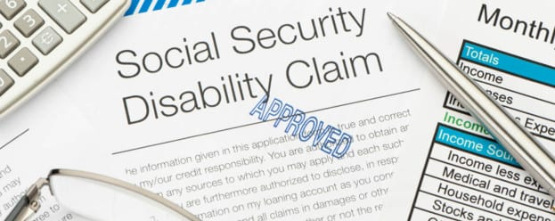 Close up of approved Social Security Disability Claim Form